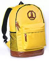 Спортивный городской рюкзак Megapolis желтый (рюкзаки молодежные, велосипедный рюкзак, рюкзаки городские)