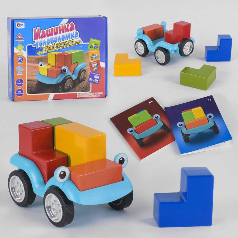 """Гр Розвиваюча гра """"Машинка - головоломка"""" UKB-B 0043 (12) """"Fun Game"""", українською мовою, в коробці"""