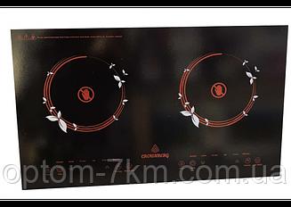 Инфракрасная двухконфорочная плита Crownberg CB-1330 (две конфорки по 2000 Вт) am