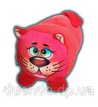 Валик игрушка велюр антистресс, полистерольные шарики, размер 30*20 см Красный