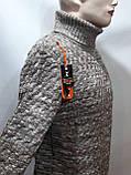 Мужской теплый свитер гольф отличного качества Коричневый р. М последний, фото 2