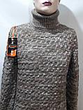 Мужской теплый свитер гольф отличного качества Коричневый р. М последний, фото 3