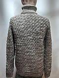 Мужской теплый свитер гольф отличного качества Коричневый р. М последний, фото 9