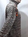 Мужской теплый свитер гольф отличного качества Коричневый р. М последний, фото 7
