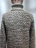 Мужской теплый свитер гольф отличного качества Коричневый р. М последний, фото 6