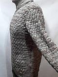 Мужской теплый свитер гольф отличного качества Коричневый р. М последний, фото 4