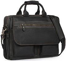 Сумка-портфель мужская кожаная для поездок Tiding Bag t29523A