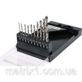 """Набор  сверл по металлу 10 шт 1.5-6 мм HEX-1/4"""" HSS 6542 YATO для нержавеющей коструктивной легированной стали"""