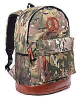 Спортивный городской рюкзак Megapolis хаки (рюкзаки молодежные, велосипедный рюкзак, рюкзаки городские)
