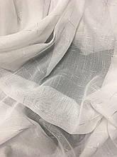 Тюль Турецький з льону | Тюль на тасьмі | Готова тюль з льону | Тюль 500x270 | Гардина з шифону | Білий тюль