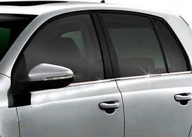 Volkswagen Golf 6 Молдинг стекол (4 шт, нерж)