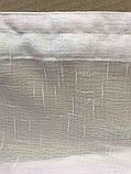 Тюль Турецький з льону | Тюль на тасьмі | Готова тюль з льону | Тюль 500x270 | Гардина з шифону | Білий тюль, фото 4