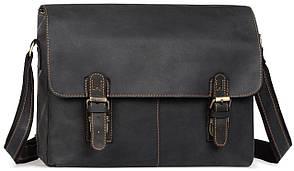 Мужская сумка через плечо из натуральной кожи винтажная Tiding Bag 6002LA-2