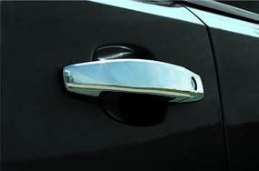 Opel Meriva 2010-2017 гг. Накладки на ручки (4 шт) OmsaLine - Итальянская нержавейка