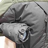 Зимняя теплая мужская куртка на кашемире с капюшоном Зеленая с черным, фото 7