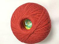 """Нитка для вязания """"Лилия"""" хлопок 100% цвет красный"""