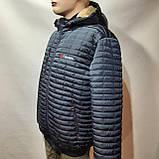 Мужская зимняя куртка (Больших размеров) подкладка овчина на резинке Турция  темно синий, фото 2