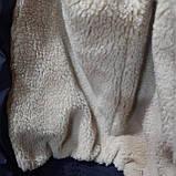 Мужская зимняя куртка (Больших размеров) подкладка овчина на резинке Турция  темно синий, фото 7