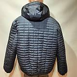 Мужская зимняя куртка (Больших размеров) подкладка овчина на резинке Турция  темно синий, фото 9