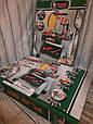 Игровой набор для мальчика мастерская, инструменты, верстак, каска, фото 7