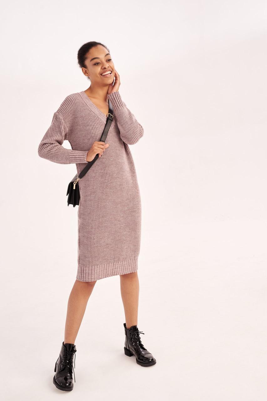 Вязаное молодежное платье XS, S, M
