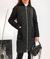 Пальто на змейке батал, фото 1