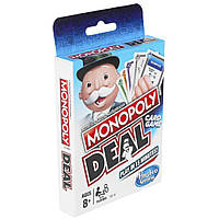 Настольная игра Hasbro Монополия Сделка карточная E3113, КОД: 1884735