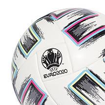 Мяч футбольный Adidas Euro 2020 Competition Ball FJ6733 №4 Белый, фото 3