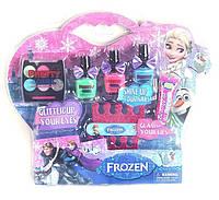Набор детской декоративной косметики и маникюра Фроузен Frozen 3 лака, 6 теней, блеск для девочек от 3 лет