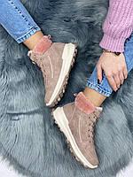 Ботинки женские зимние 8 пар в ящике розового цвета 36-41, фото 3