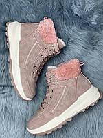 Ботинки женские зимние 8 пар в ящике розового цвета 36-41, фото 4