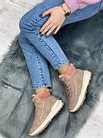 Ботинки женские зимние 8 пар в ящике розового цвета 36-41, фото 5