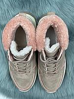 Ботинки женские зимние 8 пар в ящике розового цвета 36-41, фото 6