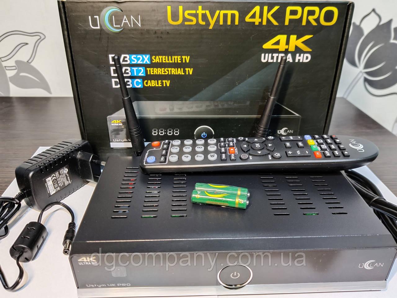 Спутниковая мультимедийная приставка Uclan Ustim 4K Pro