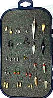 Набір для зимової рибалки 30шт. Мормишок з Вольфрам.коронкою +Блешня Зимова 8шт. +органайзер