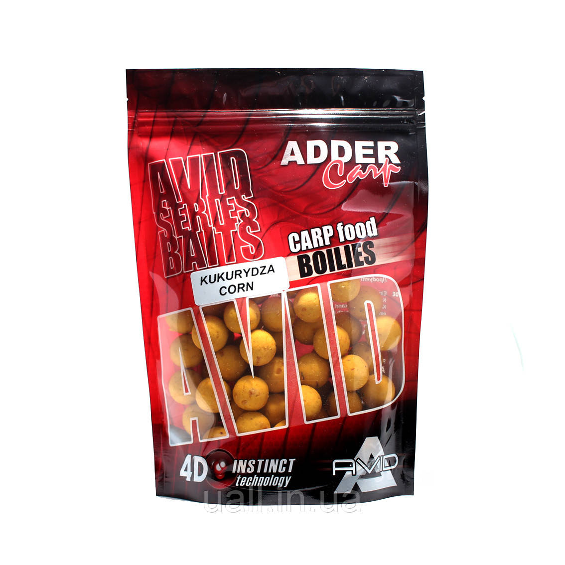 Бойли Adder Carp Boilies AVID Corn 1kg (18mm) (Кукурудза)