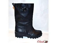 Ботинки-полусапоги женские высокие осенние Украина кожаные Uk0051