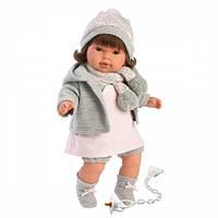 Llorens Кукла плачущая Пиппа 42 см брюнетка серая кофточка