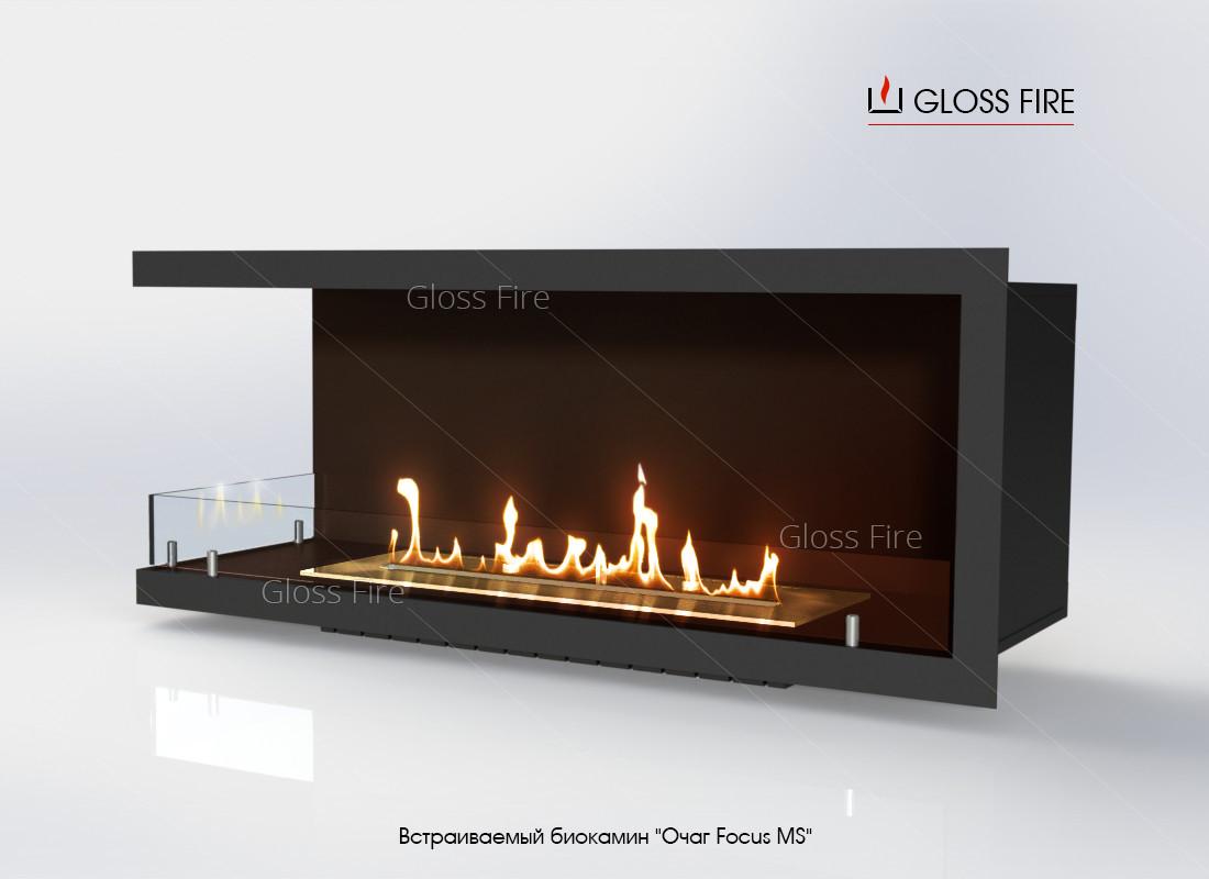 Встраиваемый биокамин «Очаг Focus MS-арт.006» GlossFire (Focus006)