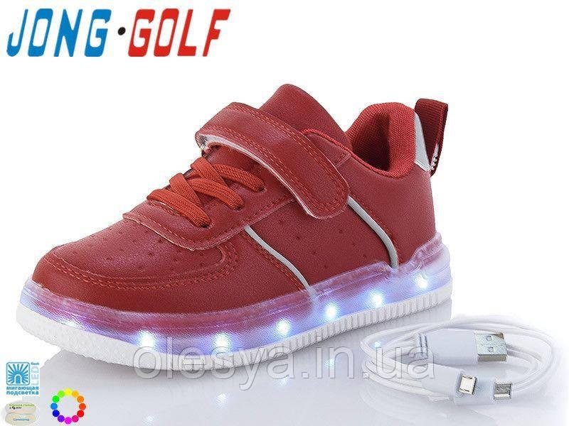 Кроссовки с юсб зарядкой, 11 режимов свечения для девочек 10127 ТМ Jong Golf Размеры 26-31
