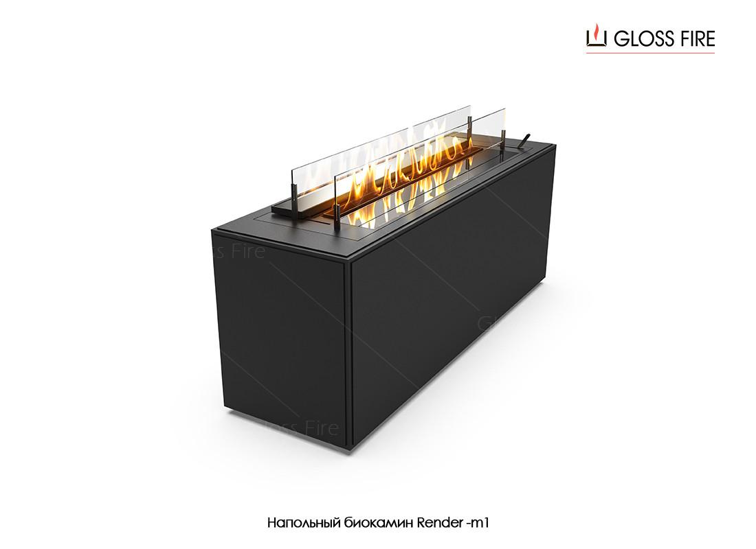 Напольный биокамин Render-m1 Gloss Fire (render-m1)
