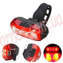 Ліхтар велосипедний акумуляторний BL-203 задній світло стоп