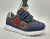 Кросівки дитячі на хлопчика Tom.M 7175B темно-сині. 22-27 розміри, фото 2