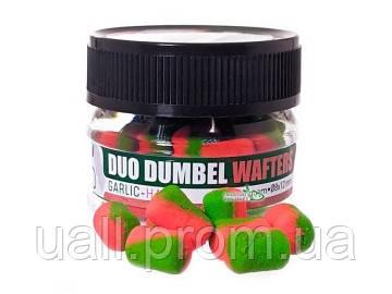 Бойли Carp Zoom Duo Dumbel Wafters Ø8x12mm 15g Garlic - Ham (двоколірні подовгасті Часник - Хамон)
