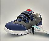 Кросівки дитячі на хлопчика Tom.M 7175B темно-сині. 22-27 розміри, фото 3