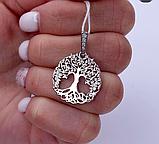 Кулон в родированном серебре с цирконами Дерево жизни, фото 4