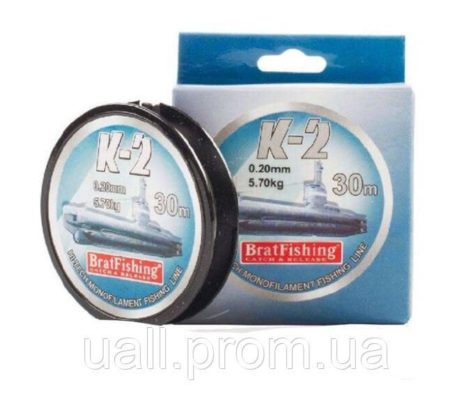 Волосінь Bratfishing K-2 30m 0,18mm