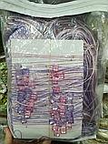 Шторы нити с камнями | Нитяные шторы | Готовые шторы | Якісні штори з камінням | Фиолетово-розовые шторы, фото 2