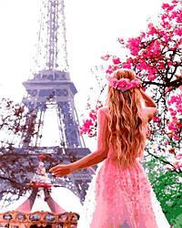 Картина по номерам Девушка в Париже Влюбленная в Париж 40х50см Babylon Turbo
