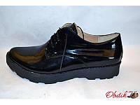 Туфли женские закрытые Украина лаковая кожа черные Uk0077